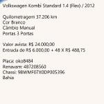 Foto Volkswagen kombi standard 1.4 flex / 2012