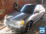 Foto Honda Civic Cinza 2001/2002 Gasolina em Campo...