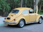 Foto Fusca 1500 1972 Amarelo Colonial - Placa Preta...