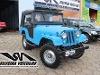 Foto Ford Jeep 1959 Azul 4x4 Capota Reclinável- Fibra