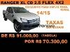 Foto Ford ranger cab. Dupla xl 4x2 2.5 16V(FLEX) 4p...
