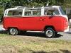Foto Rojo 1970 Volkswagen Combi autobús Deluxe...