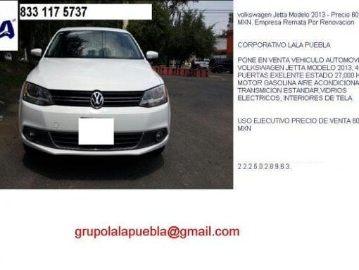 Foto Automovil Volkswagen Jetta Modelo 2013 - Precio...