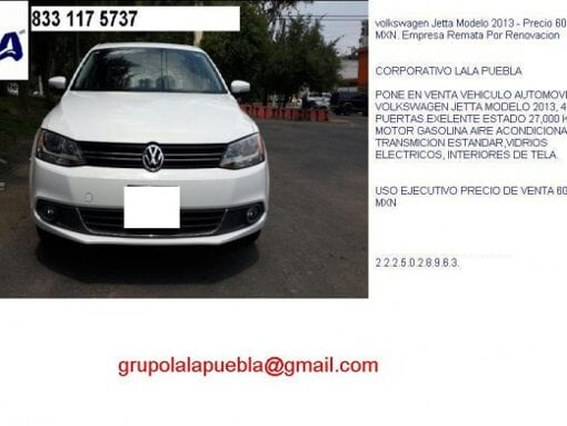 Foto Volkswagen Jetta Modelo 2013 - Precio 60,000...