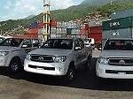 Foto Flotilla de camionetas toyota hilux