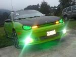 Foto Hermoso neon modificado verde