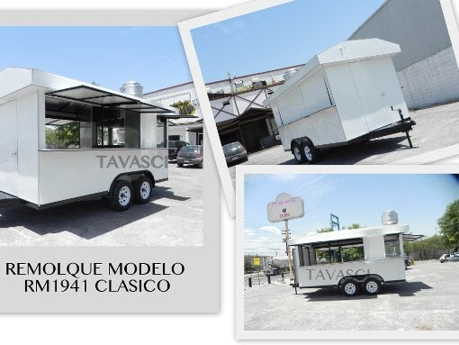 Foto Remolque Comida, carro Tacos, hamburguesas Food...