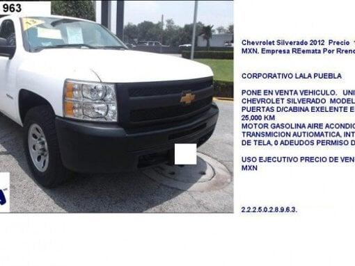 Foto Chevrolet Silverado 2012 Precio 100,000 MXN....