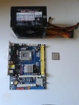 Foto Kit placa-mãe ddr2+core 2 duo 2.8ghz+fonte