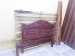 Foto Cama de casal em madeira maciça