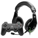 Foto Kit Ps3 Headset Gaming Hs-g600 E Controle Dual...