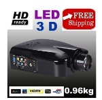Foto Data Show Projetor Led 3D 2000 Lumens HD/HDMI...