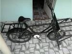 Foto Bicicleta de carga reforçada.