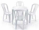 Foto Jogo Mesas Cadeiras Plastico - Conjunto Mesas...