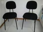 Foto Mesa Escritório C 1Cadera Roda e 2 cadeiras fixas