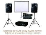 Foto Aluguel de som, data show e telão para eventos...