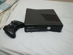 Foto Xbox 360 Slim Bloqueado + Controle Original Sem...