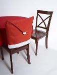 Foto Capa Para Cadeira De Chapéu De Papai Noel
