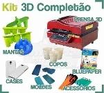 Foto Kit Prensa Termica 3d Completão P Sublimaçao...
