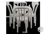 Foto Mesas e cadeiras de plastico