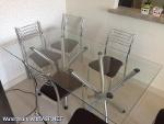 Foto Mesa de jantar com 6 cadeiras