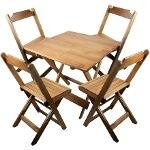 Foto Conjunto com 01 mesa 70x70cm e 4 cadeiras....