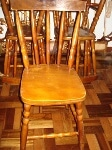 Foto Conj. de 5 cadeiras country em bom estado,...
