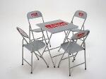 Foto Mesas e cadeiras dobráveis de aço para bares,...