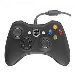 Foto Controle Xbox 360 C/ Fio 2m - Dazz Preto - Azul...