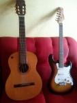 Foto Guitarra + Violão + Pedal + Eliminador + Cabos