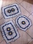 Foto Crochê: Jogo de tapetes para banheiro