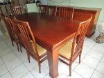 Foto Sala De Jantar Mogno = Mesa + 8 Cadeiras +...