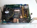 Foto Placa mãe ddr2 com processador Intel Dual Core 2,0